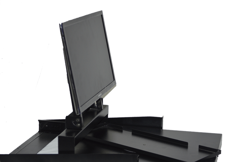 Bandeja para monitor y teclado